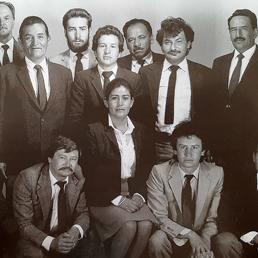 Eduardo Hernández y los otros representantes de la Asociación de Conductores Guías de Turismo