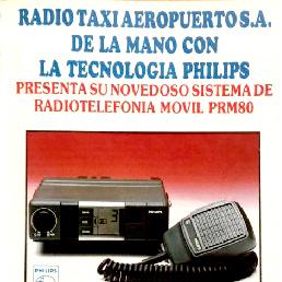 Radioteléfono para taxis desarrollado por la marca Philips