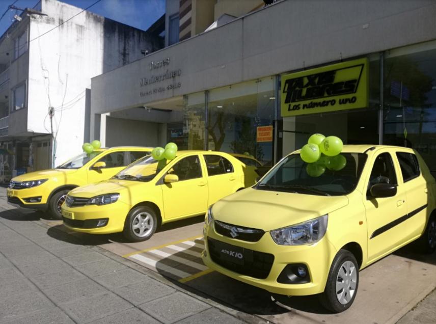Pantalla de Taxis Libres App en sus inicios